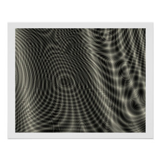 Op Art Random Moire Waves 09 Poster