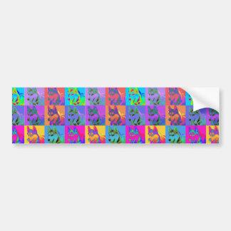 Op Art - Siberian Husky Bumper Stickers