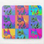 Op Art - Siberian Husky Mouse Mat