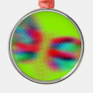 OP ART Silver-Colored ROUND DECORATION