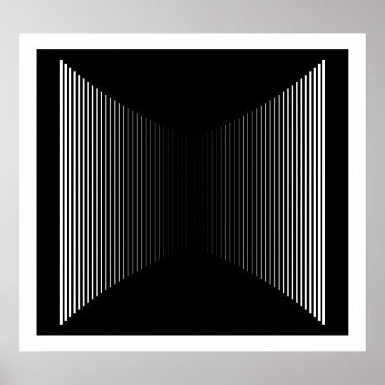 Op Art Vertical Bars White On Black Progressive