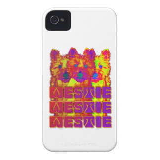 Op Art - West Highland Terrier iPhone 4 Case-Mate Cases