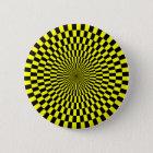 Op Art - Yellow and Black 6 Cm Round Badge