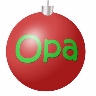 Opa Christmas Ornament Photo Sculpture Decoration