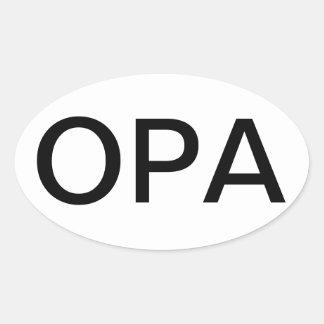 OPA Sticker