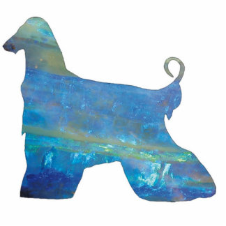 Opal Afghan Hound Photo Sculpture