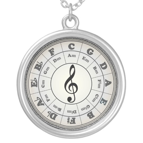 Opal Circle of Fifths - another version Silver