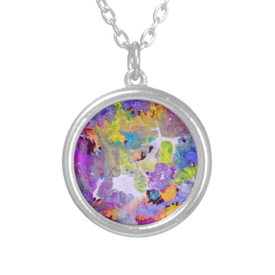 Opal Colours Silver Plated Necklace