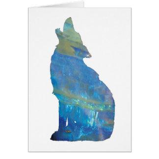 Opal Wolf Card