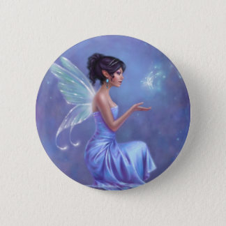 Opalite Fairy with Butterfly Button Badge