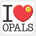 Opals Love Square Sticker