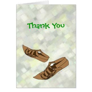 Opanke Folk Dance Shoes Thank You Card for Dancers