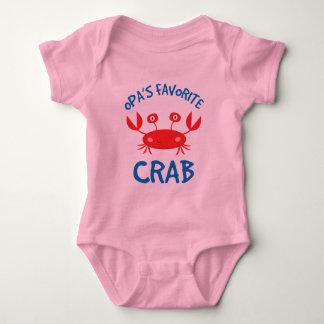 Opas Favorite Crab (Grandchild) Baby Bodysuit