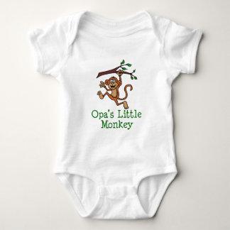 Opa's Little Monkey Baby Bodysuit