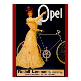 Opel Bicycles Vintage Advertisment Postcard