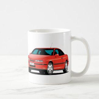 Opel Calibra red front and back Basic White Mug