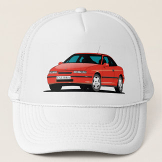 Opel Calibra red front Trucker Hat
