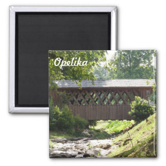 Opelika Alabama Covered Bridge Photo Magnet