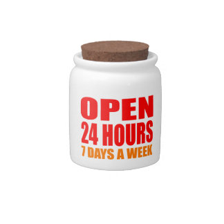 Open 24 Hours Candy Dishes