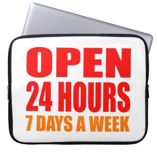 Open 24 Hours Computer Sleeves