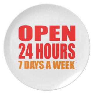 Open 24 Hours Dinner Plates