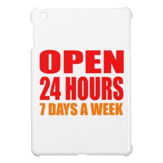 Open 24 Hours iPad Mini Covers