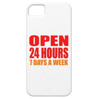 Open 24 Hours iPhone 5 Cases