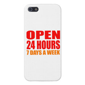 Open 24 Hours iPhone 5 Cover