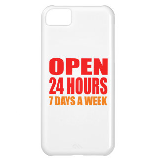 Open 24 Hours iPhone 5C Cover