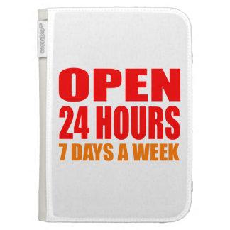 Open 24 Hours Kindle Folio Cases