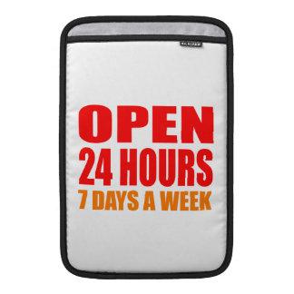 Open 24 Hours MacBook Air Sleeve