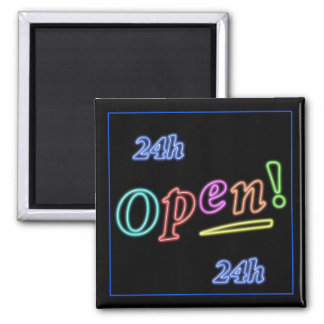 Open 24 hours neon gift refrigerator magnets