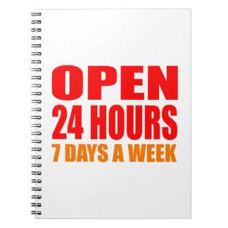 Open 24 Hours Notebook