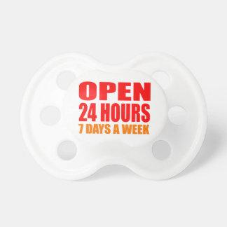 Open 24 Hours Pacifiers