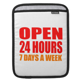 Open 24 Hours Sleeves For iPads