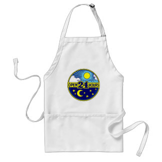 Open 24 Hours Sun and Moon Aprons