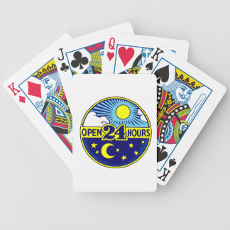 Open 24 Hours Sun and Moon Deck Of Cards