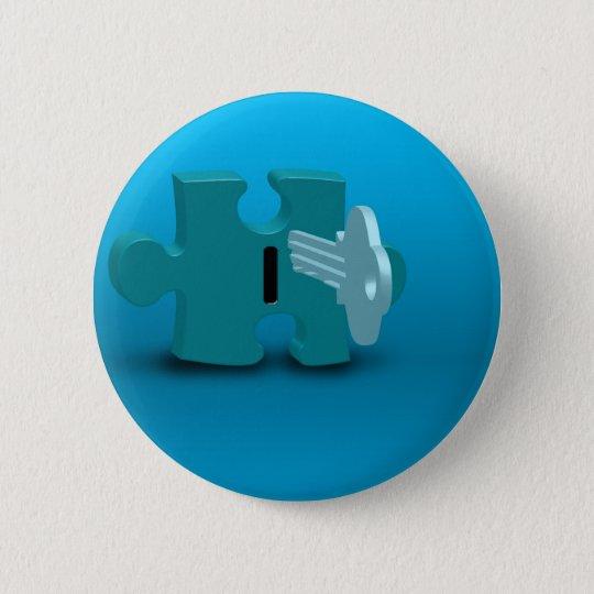 Open 6 Cm Round Badge