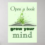 Open A Book Poster