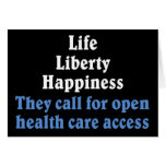 Open access to health care 2 greeting card