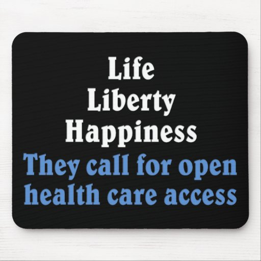 Open access to health care 2 mouse pad