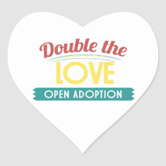 Open Adoption Heart Sticker