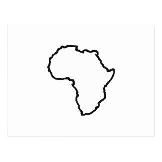 OPEN AFRICA OUTLINE POSTCARD