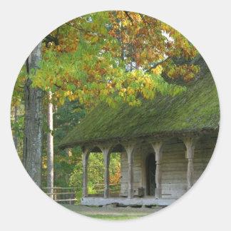Open-air museum round sticker