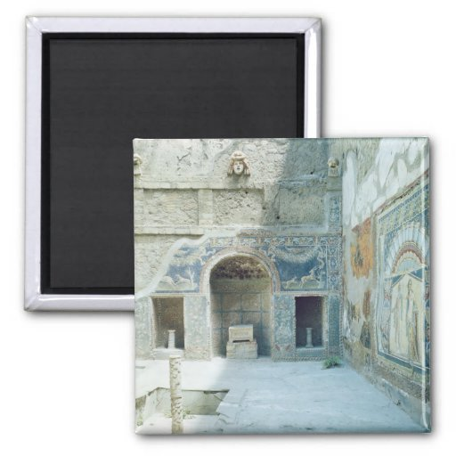 Open air triclinium of the House of Neptune Refrigerator Magnets