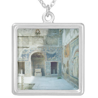 Open air triclinium of the House of Neptune Silver Plated Necklace