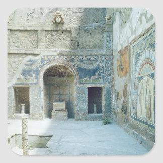 Open air triclinium of the House of Neptune Square Sticker
