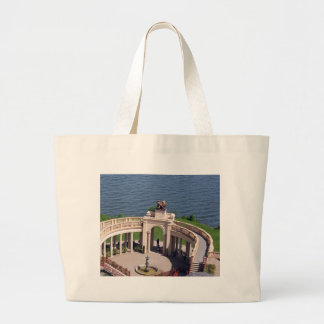 Open arms for peace and calm orangerie schwerin tote bag