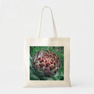 Open Artichoke Plant. Tote Bags
