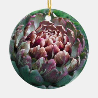 Open Artichoke Plant Christmas Tree Ornament